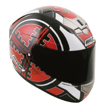 Box BX-1 Scope Red Full Face Motorcycle Motorbike Scooter Helmet